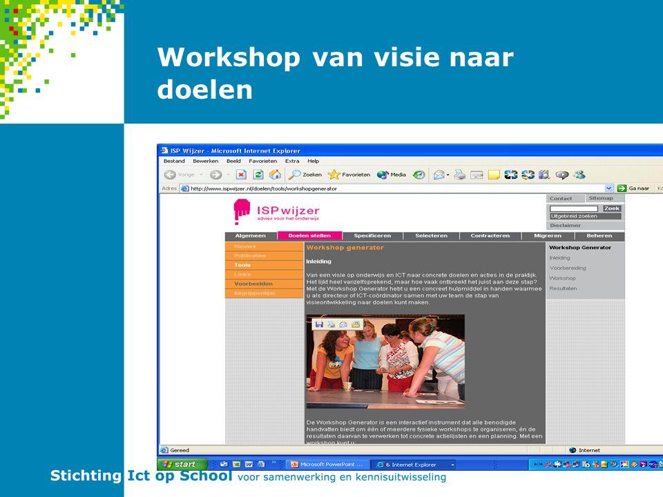 Workshop van visie naar doelen