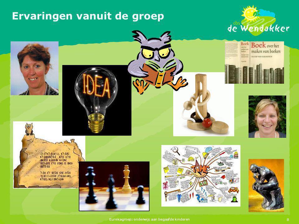 Eurekagroep: onderwijs aan begaafde kinderen8 Ervaringen vanuit de groep