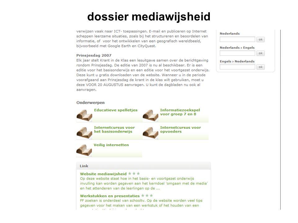 dossier mediawijsheid
