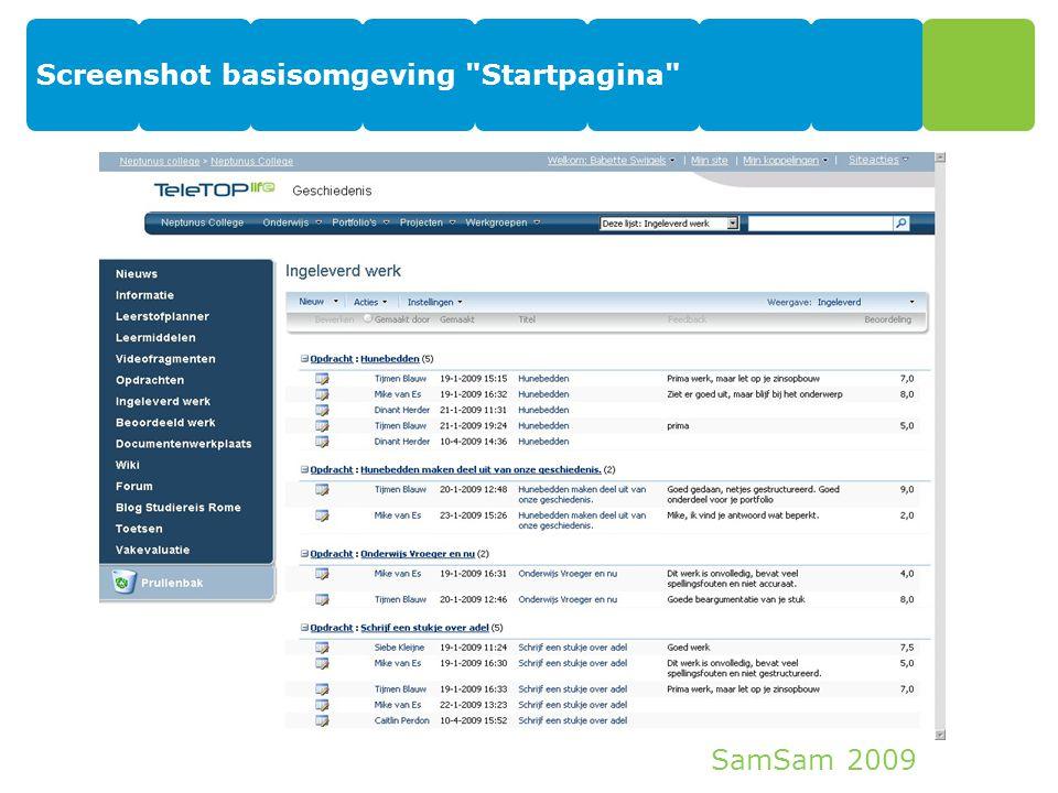 SamSam 2009 Screenshot basisomgeving