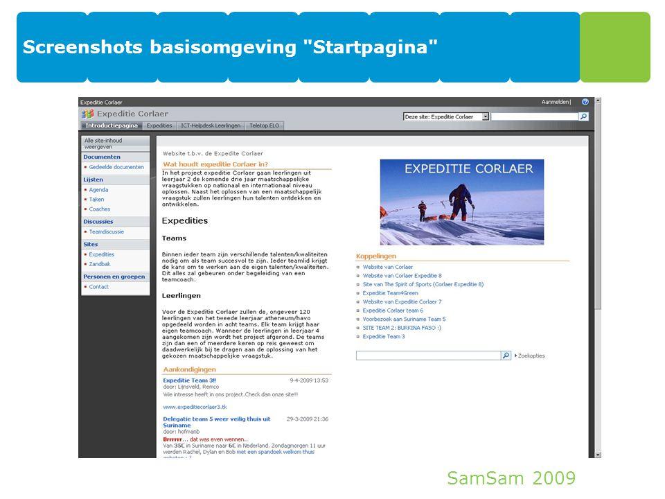 SamSam 2009 Screenshots basisomgeving