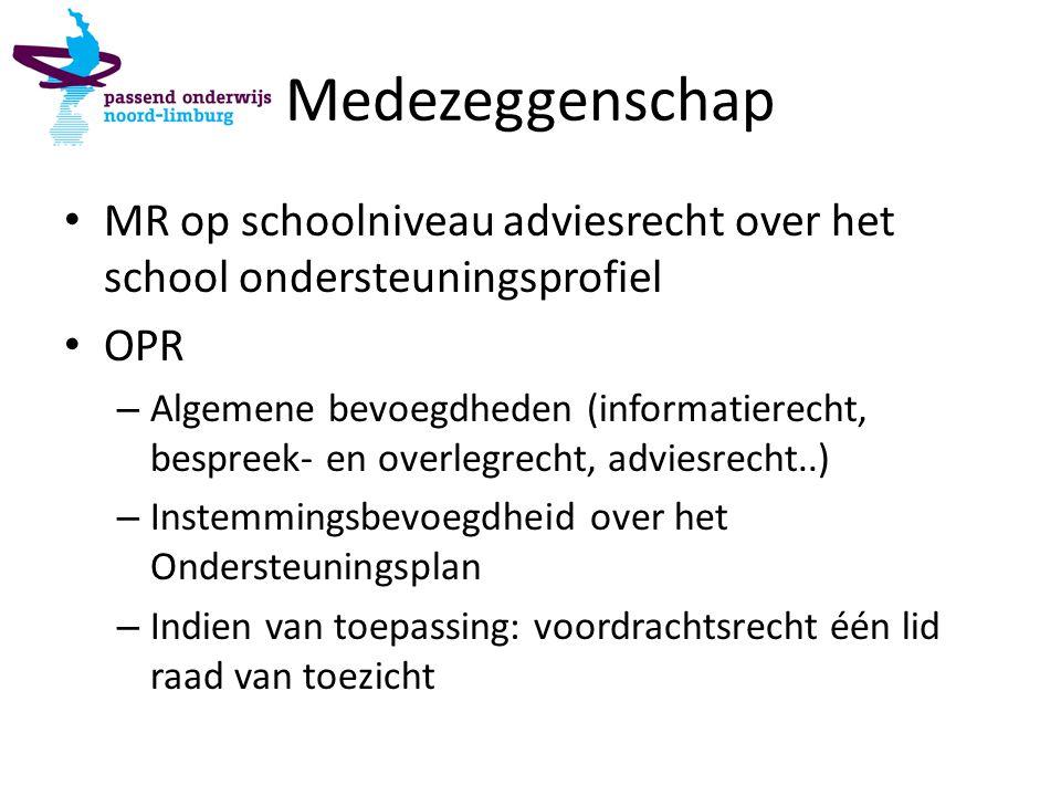 Medezeggenschap MR op schoolniveau adviesrecht over het school ondersteuningsprofiel OPR – Algemene bevoegdheden (informatierecht, bespreek- en overle