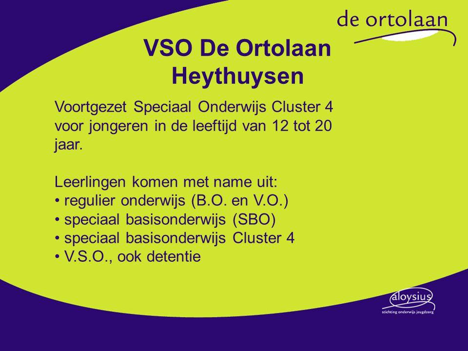 VSO De Ortolaan Heythuysen Voortgezet Speciaal Onderwijs Cluster 4 voor jongeren in de leeftijd van 12 tot 20 jaar.