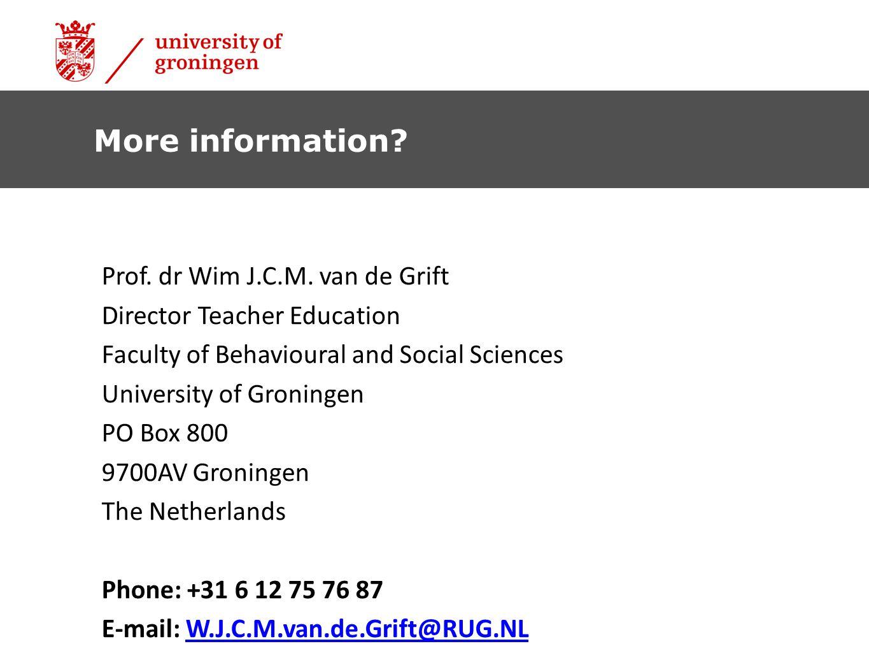 Prof.dr Wim J.C.M.