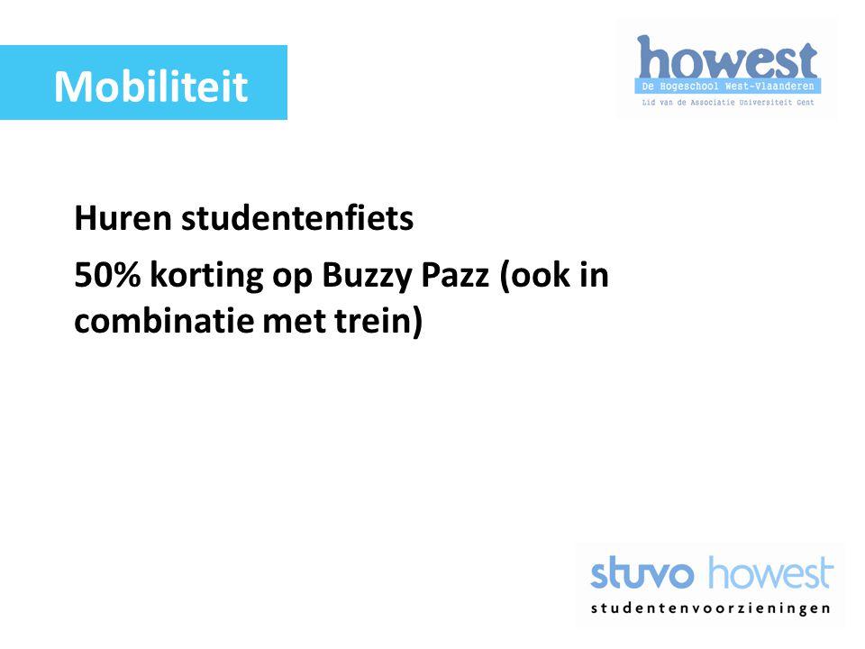 Huren studentenfiets 50% korting op Buzzy Pazz (ook in combinatie met trein) Mobiliteit