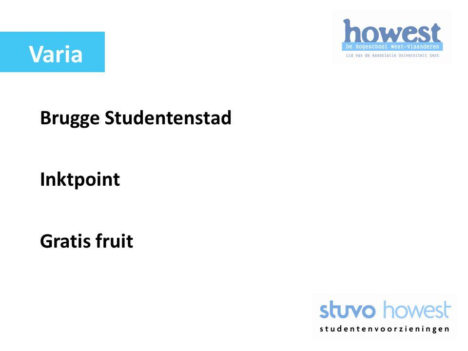 Brugge Studentenstad Inktpoint Gratis fruit Varia