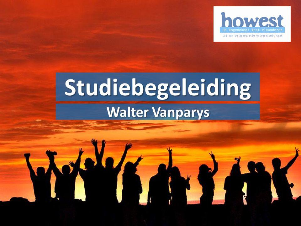 Alle voorgaande info uitgeschreven in het Onderwijs- en examenreglement: www.howest.be/oer www.howest.be/oerOER Studiebegeleiding Walter Vanparys