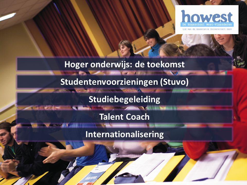 Hoger onderwijs: de toekomst Studentenvoorzieningen (Stuvo) Studiebegeleiding Talent Coach Internationalisering