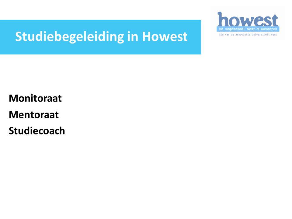 Monitoraat Mentoraat Studiecoach Studiebegeleiding in Howest