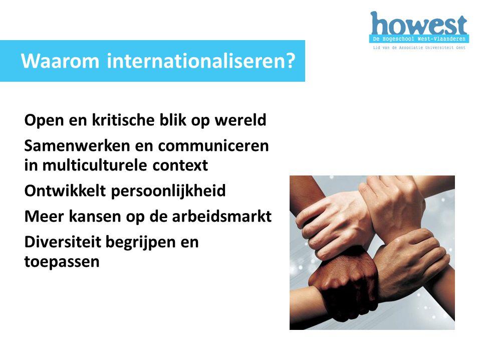 Open en kritische blik op wereld Samenwerken en communiceren in multiculturele context Ontwikkelt persoonlijkheid Meer kansen op de arbeidsmarkt Diver