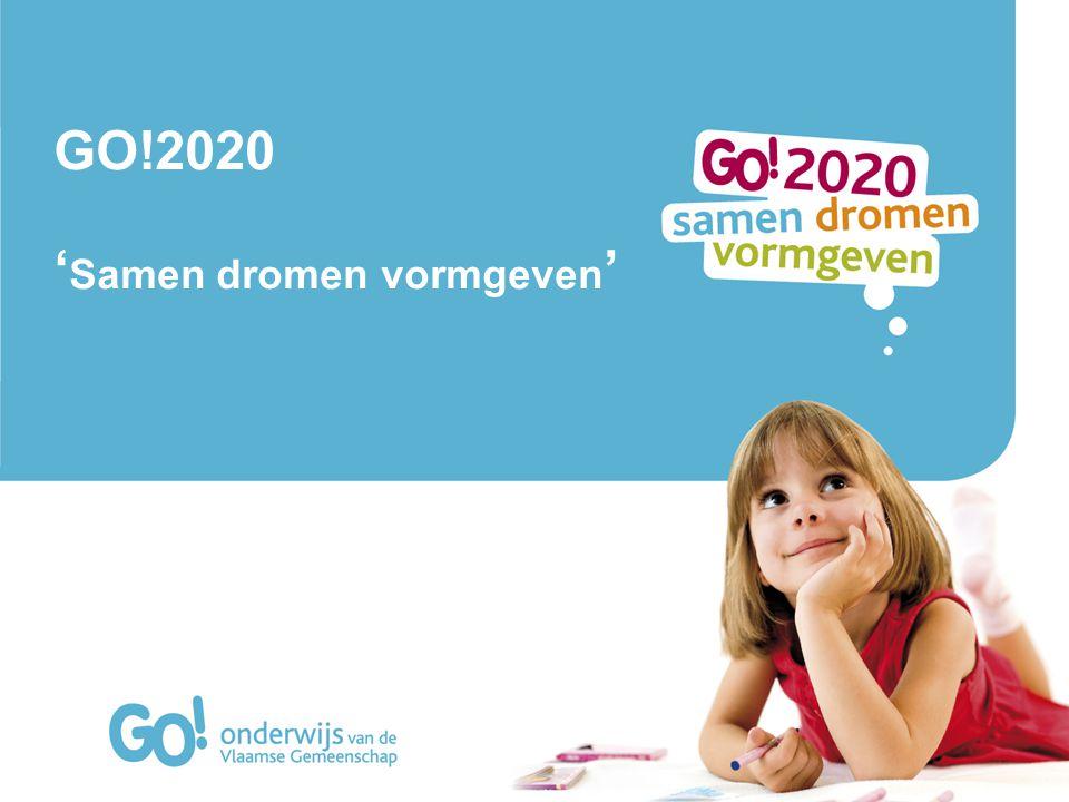 GO!2020 = vehikel voor het net Toekomstplan Instrument van verandering Multidisciplinaire benadering 2020 2013