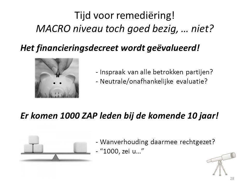 Het financieringsdecreet wordt geëvalueerd. Er komen 1000 ZAP leden bij de komende 10 jaar.