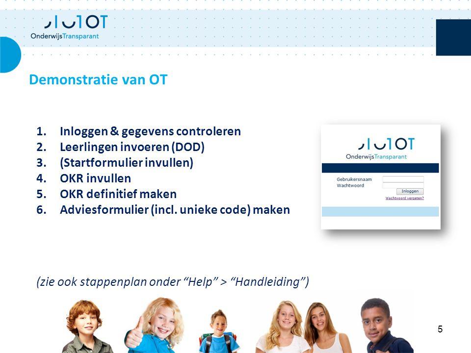 Vragen Contact met helpdesk: Inhoudelijke vragen: PCL / MHR tel: 0182 - 556 492 mail: pclswv@mhr.nl Technische vragen: Onderwijs Transparant tel: 088 - 22 00 777 mail: mhr@othelpdesk.nl 6
