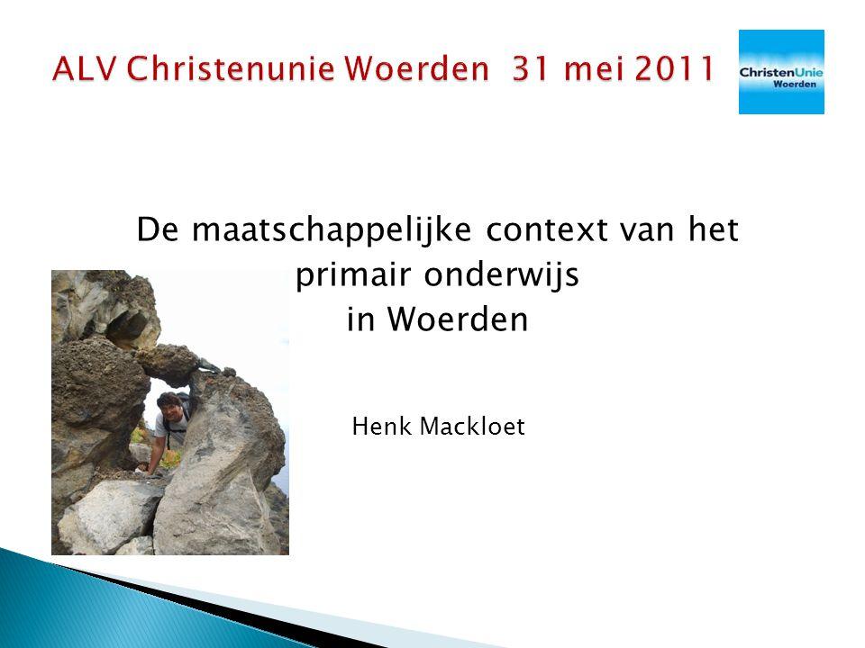 De maatschappelijke context van het primair onderwijs in Woerden Henk Mackloet
