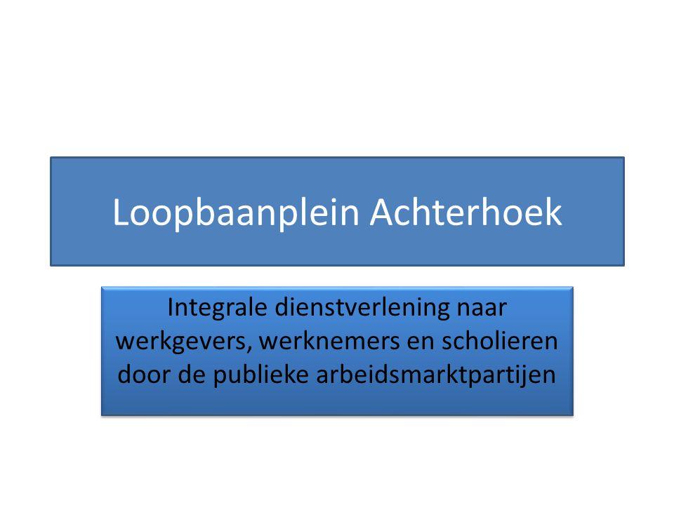 Loopbaanplein Achterhoek Integrale dienstverlening naar werkgevers, werknemers en scholieren door de publieke arbeidsmarktpartijen