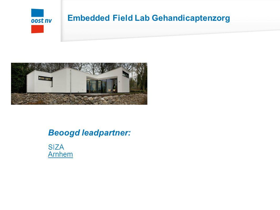 Embedded Field Lab Revalidatie Beoogde leadpartners St. Maartenskliniek ZZG Herstelhotel Groesbeek