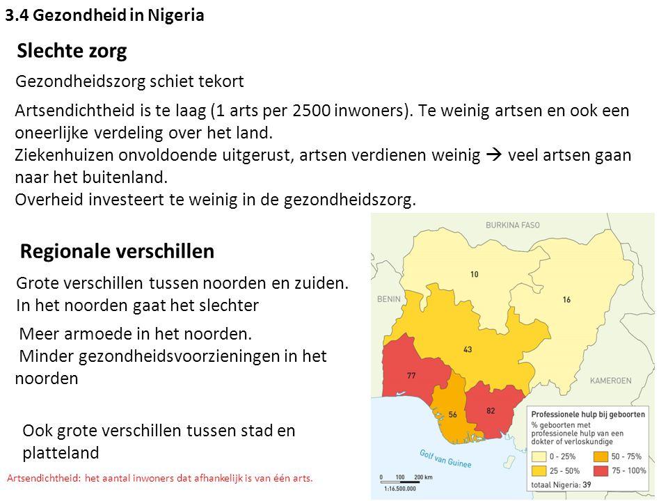 3.4 Gezondheid in Nigeria Gezondheid, onderwijs en ontwikkeling Veel onwetendheid rondom gezondheidszorg.