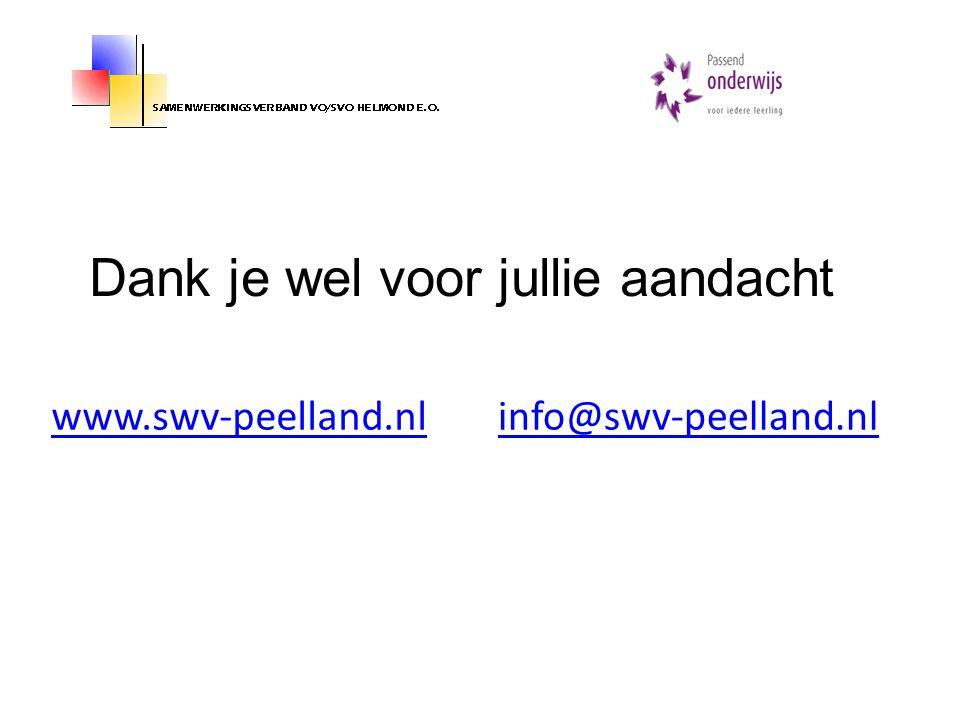 www.swv-peelland.nlinfo@swv-peelland.nl Dank je wel voor jullie aandacht