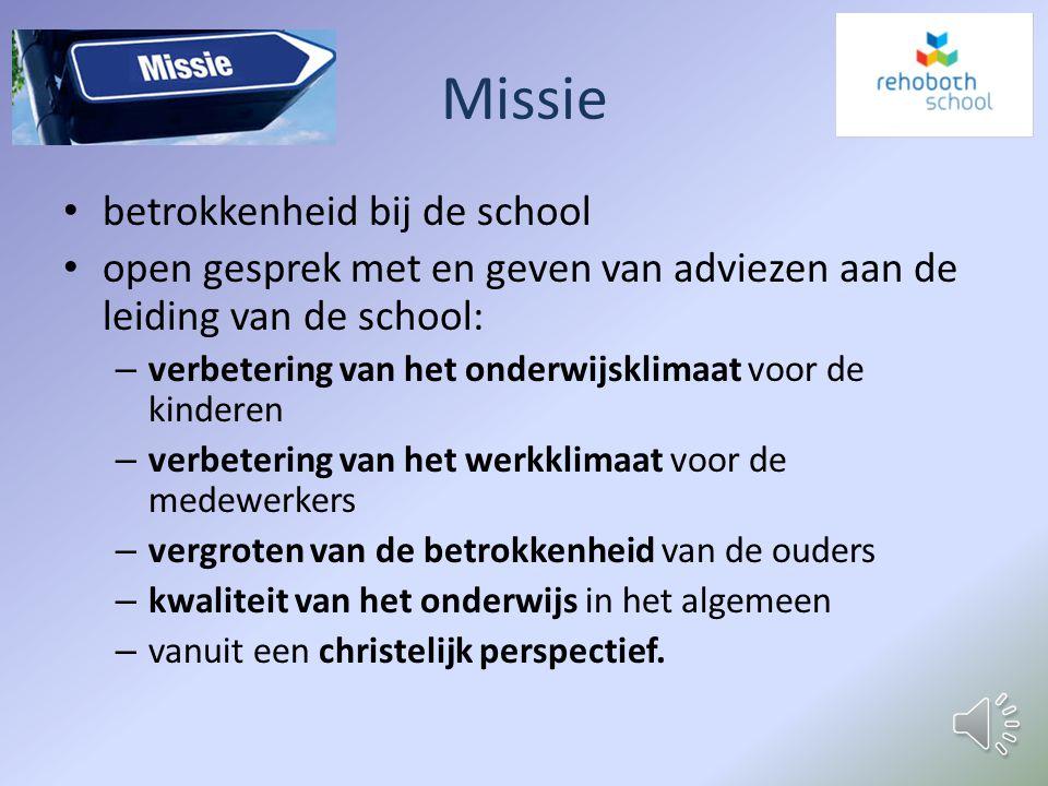 Samenstelling MR Werknemers schoolAfvaardiging Ouders Alize Diepgrond (GMR)Geert van Kruistum (voorzitter/GMR) Corine TaballyEllis de Leeuw Ina Tameru