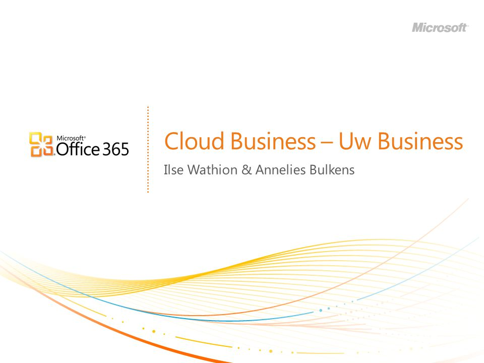 Cloud Business – Uw Business Ilse Wathion & Annelies Bulkens
