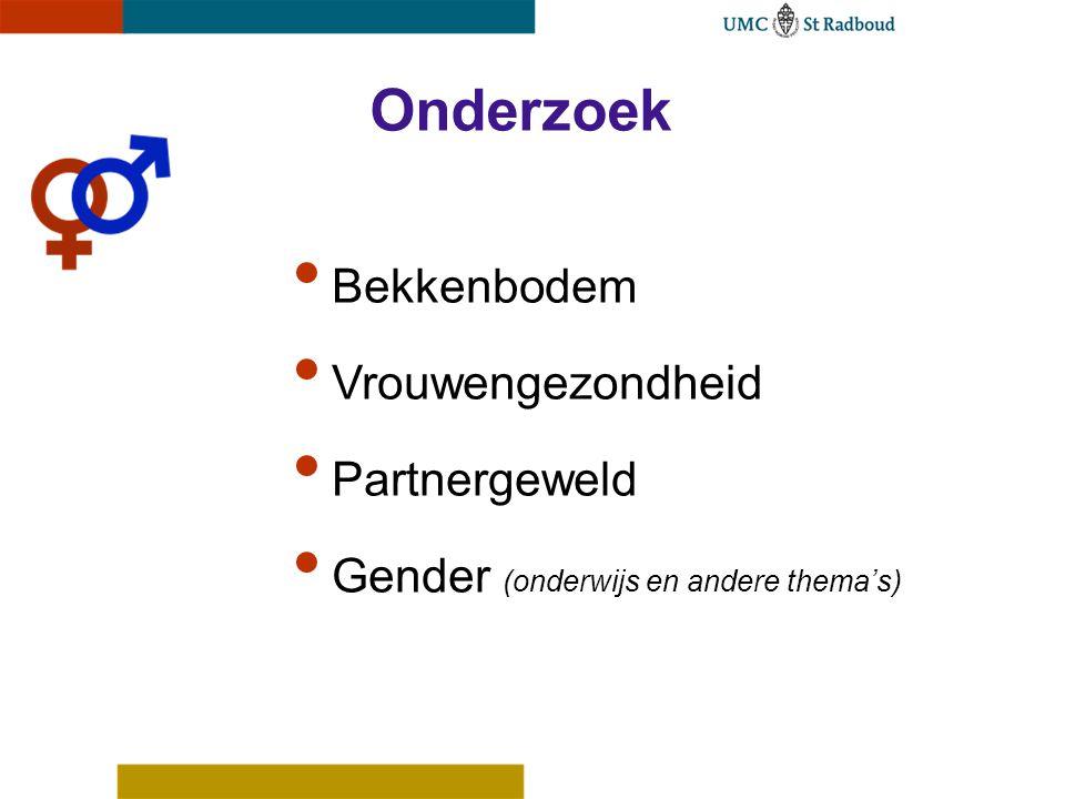 Onderzoek Bekkenbodem Vrouwengezondheid Partnergeweld Gender (onderwijs en andere thema's)