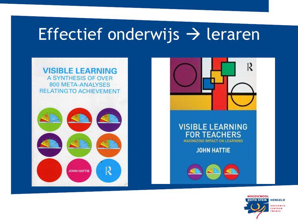 Effectief onderwijs  leraren