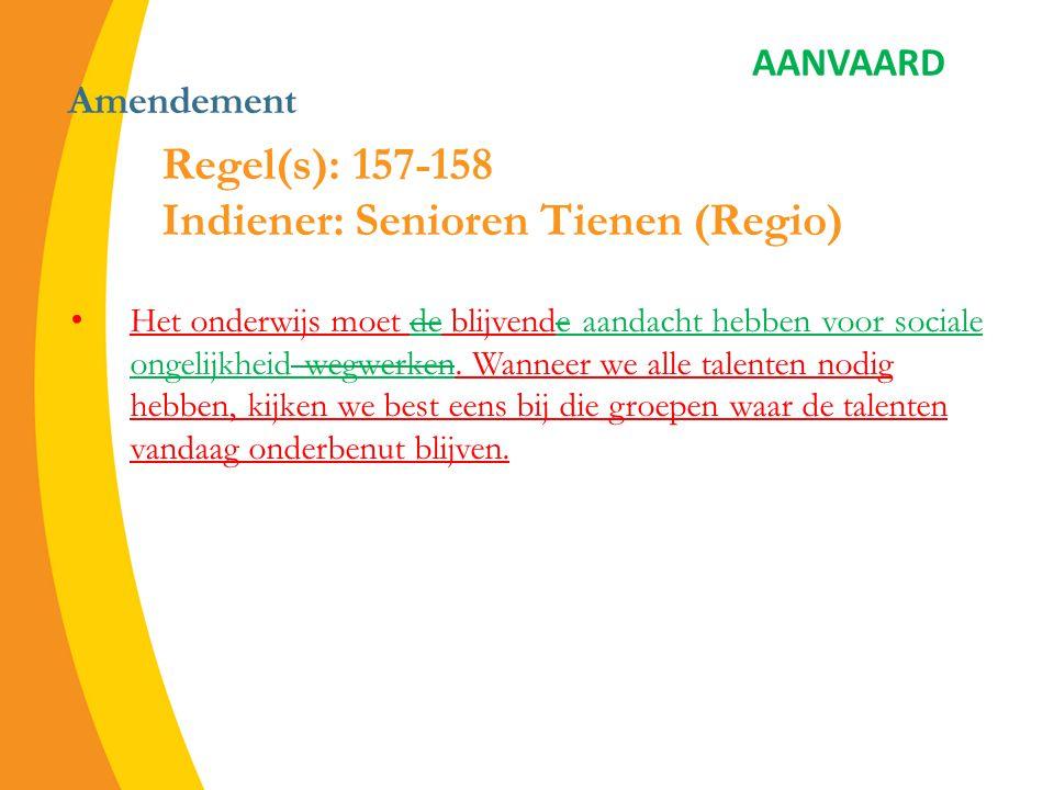 Amendement Elk kind moet kunnen deelnemen aan alle activiteiten die door de school ingericht worden.