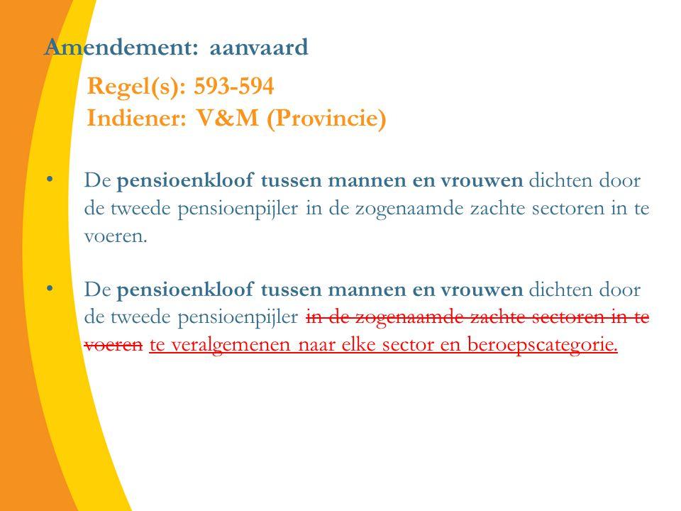 Amendement: aanvaard De pensioenkloof tussen mannen en vrouwen dichten door de tweede pensioenpijler in de zogenaamde zachte sectoren in te voeren.