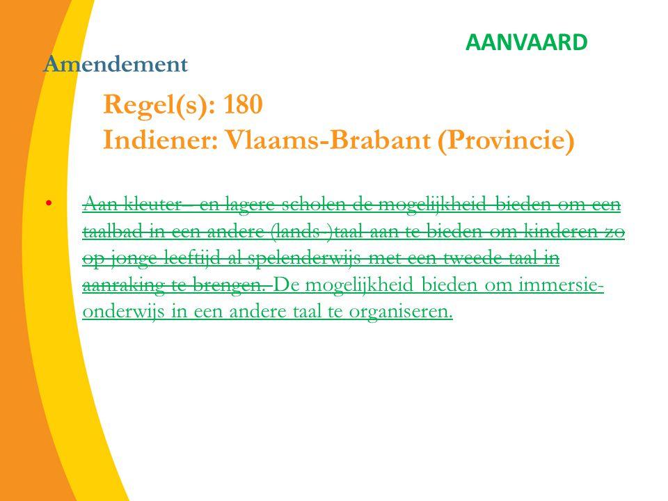 Amendement afhankelijk zijn van een individueel onderzoek van de noden.