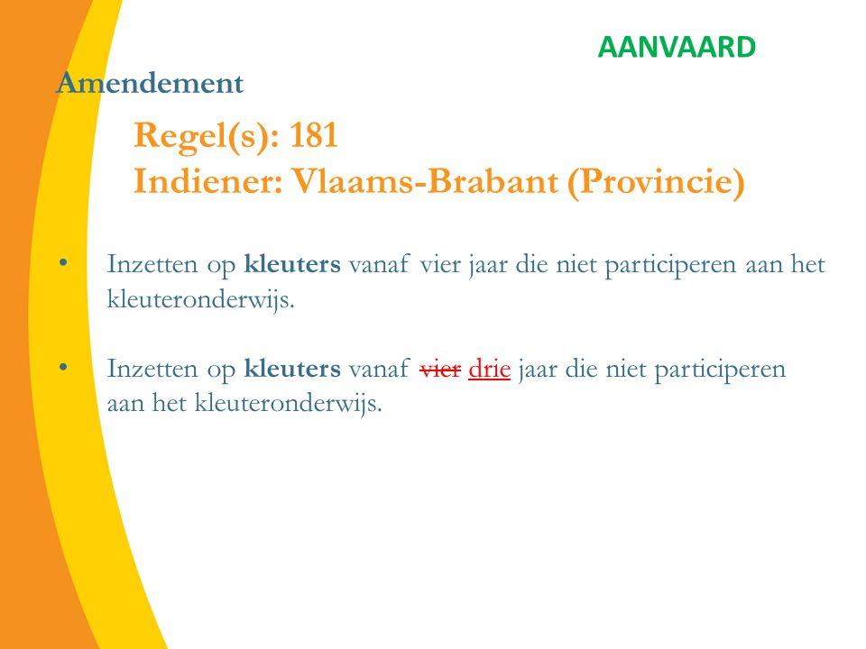 Amendement (deel 1) 2.1.3.