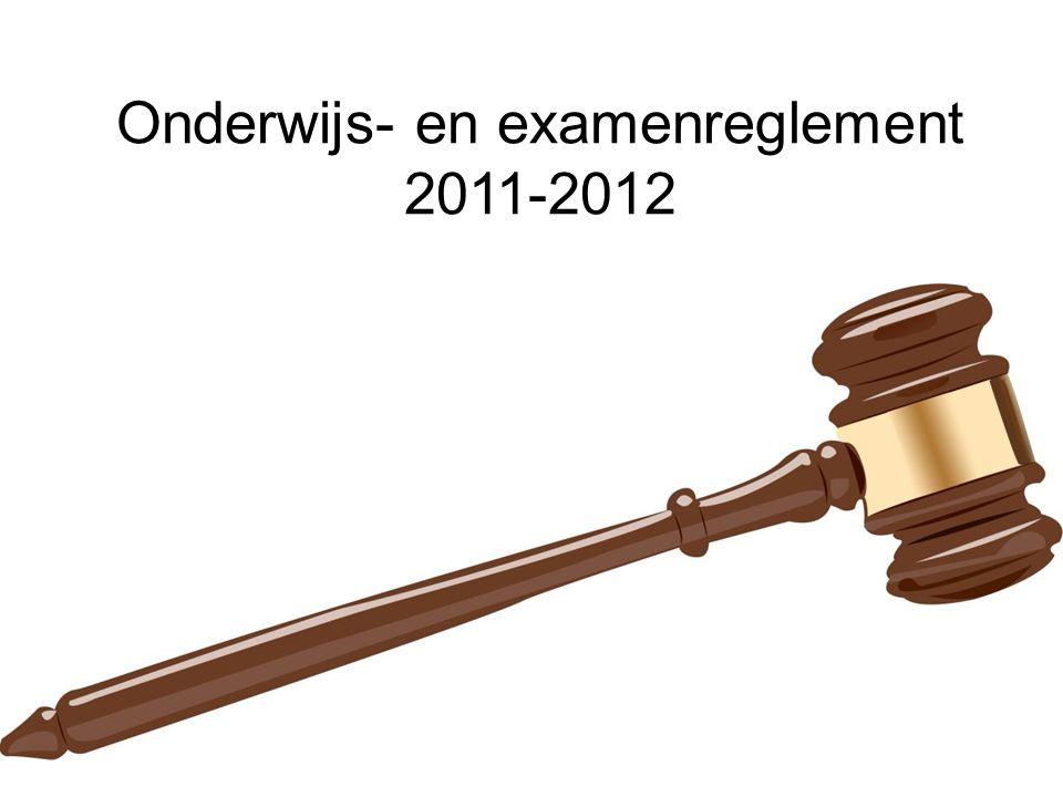 Onderwijs- en examenreglement 2011-2012