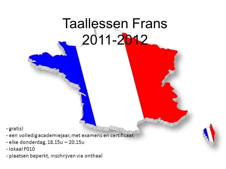 Taallessen Frans 2011-2012 - gratis.