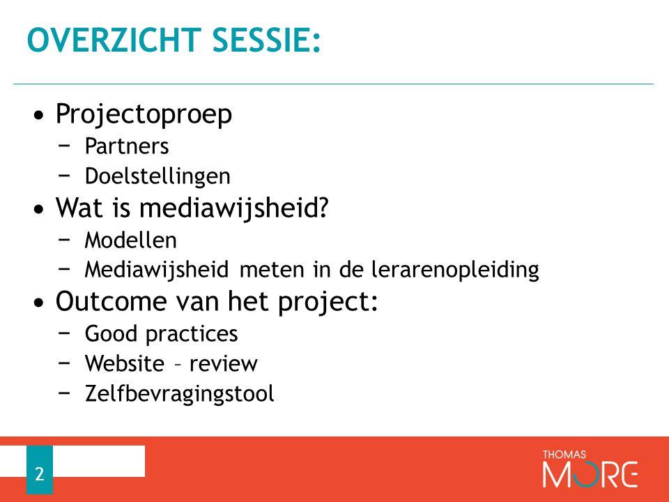 Thomas More Kempen − Campus Turnhout − Campus Vorselaar 1 BALO (BAchelor Lager Onderwijs) − Vakoverschrijdend: Mediawijsheid – ICT – Nederlands − I.s.m.