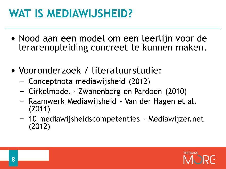 Conceptnota Mediawijsheid: Gepubliceerd door de ministers voor Media en voor Onderwijs en Vorming Lieten en Smet (2012, p.