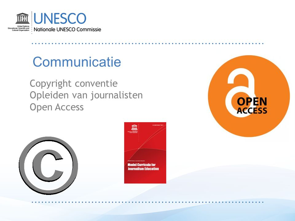 Communicatie Copyright conventie Opleiden van journalisten Open Access