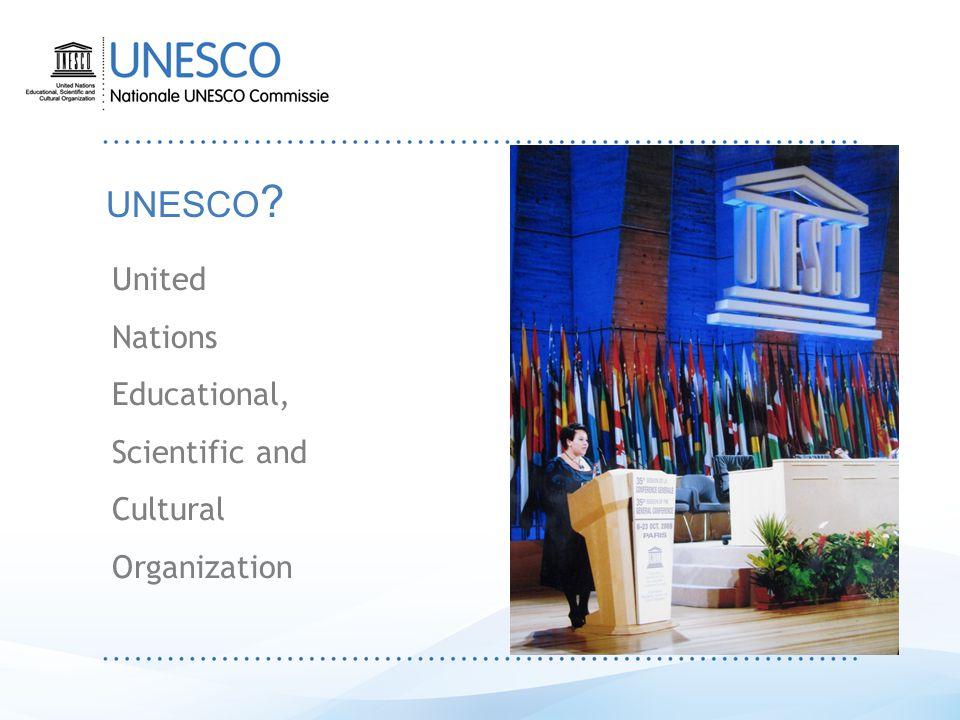 Wat doet UNESCO .