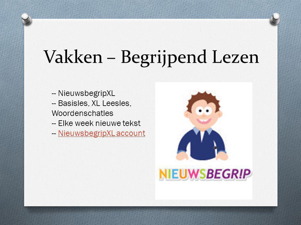 Vakken – Begrijpend Lezen -- NieuwsbegripXL -- Basisles, XL Leesles, Woordenschatles -- Elke week nieuwe tekst -- NieuwsbegripXL accountNieuwsbegripXL