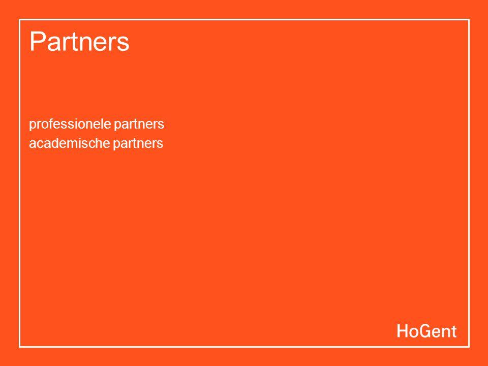 Partners professionele partners academische partners