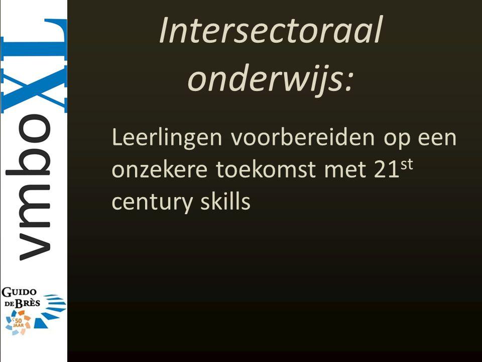 Intersectoraal onderwijs: Leerlingen voorbereiden op een onzekere toekomst met 21 st century skills