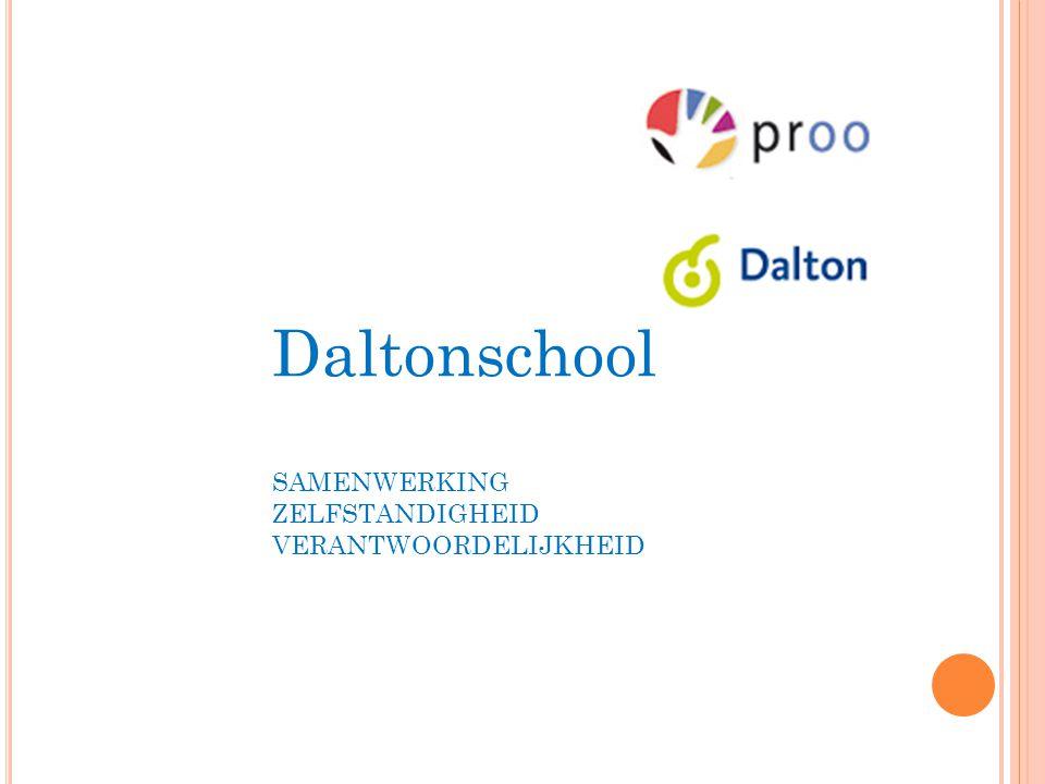 Daltonschool SAMENWERKING ZELFSTANDIGHEID VERANTWOORDELIJKHEID