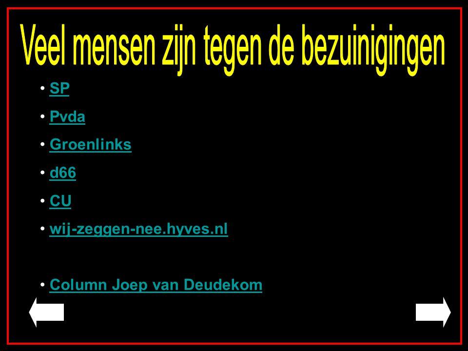 SP Pvda Groenlinks d66 CU wij-zeggen-nee.hyves.nl Column Joep van Deudekom