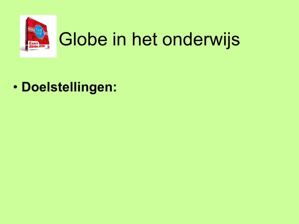 Globe in het onderwijs Werken met de financiële administratie