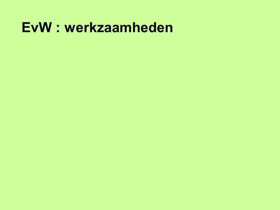 EvW : werkzaamheden