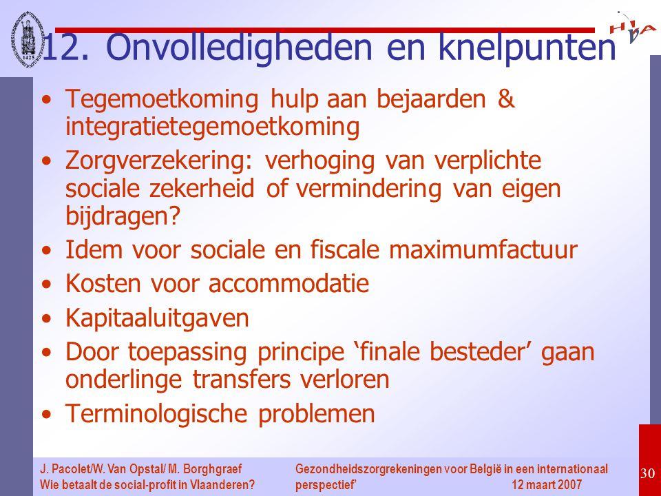 Gezondheidszorgrekeningen voor België in een internationaal perspectief' 12 maart 2007 30 J. Pacolet/W. Van Opstal/ M. Borghgraef Wie betaalt de socia