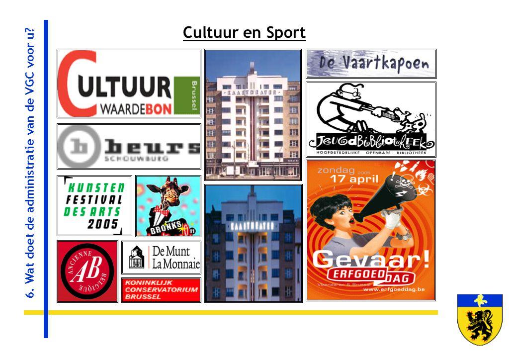 Cultuur en Sport 6. Wat doet de administratie van de VGC voor u?