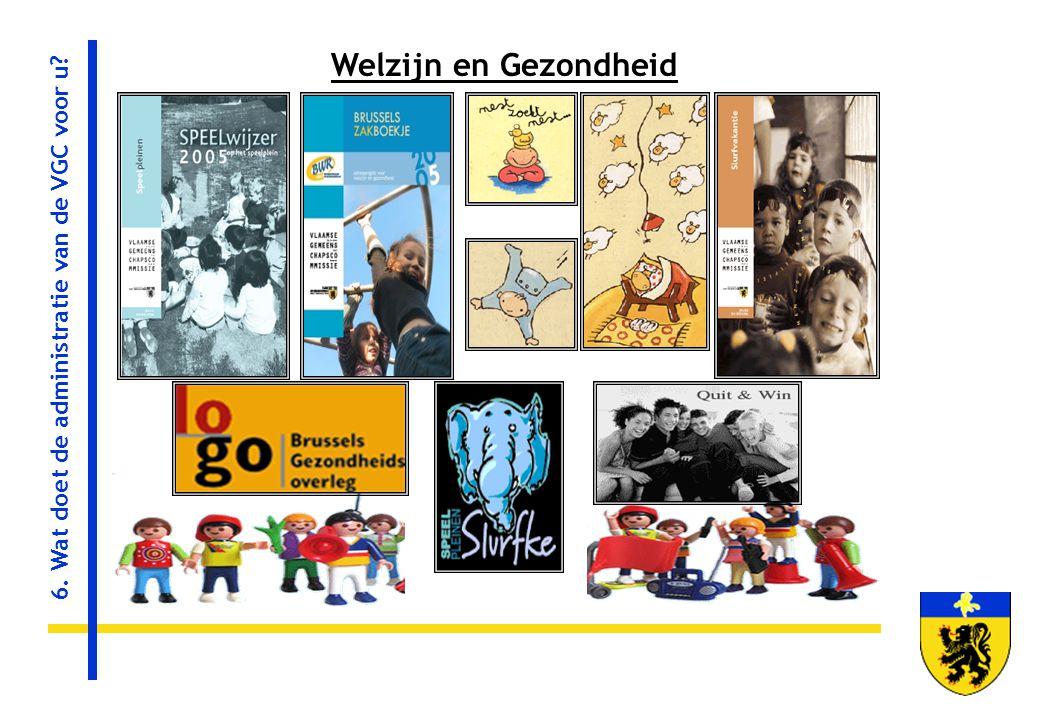 Welzijn en Gezondheid 6. Wat doet de administratie van de VGC voor u?