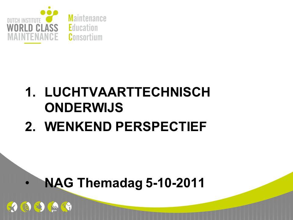 1.LUCHTVAARTTECHNISCH ONDERWIJS 2.WENKEND PERSPECTIEF NAG Themadag 5-10-2011