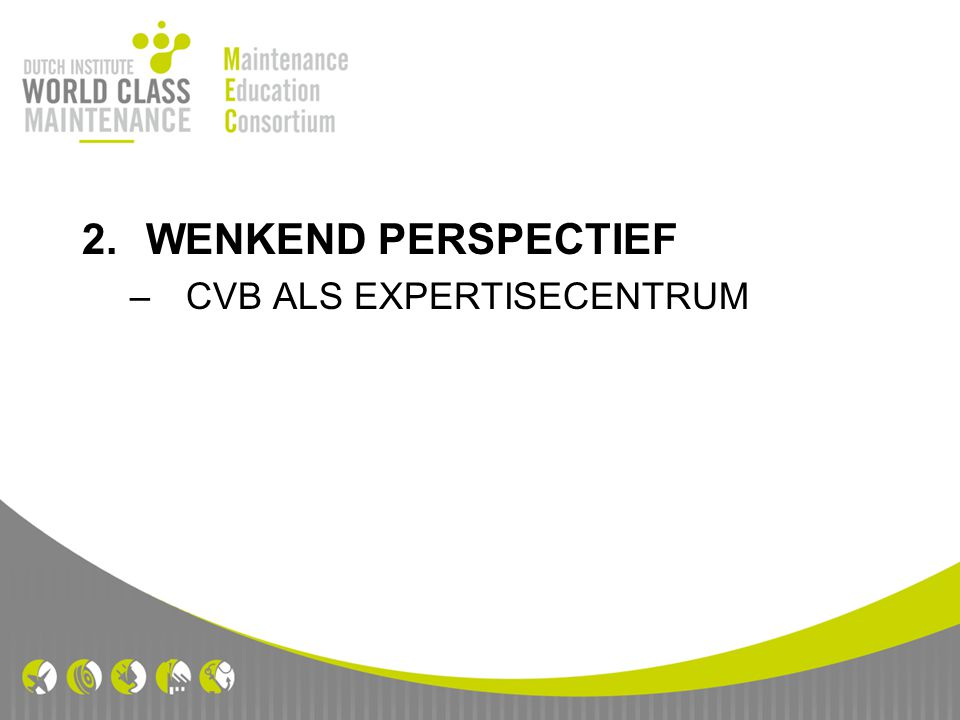 2.WENKEND PERSPECTIEF –CVB ALS EXPERTISECENTRUM