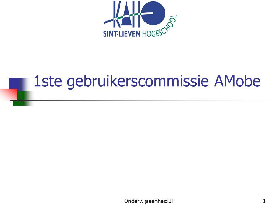 Onderwijseenheid IT1 1ste gebruikerscommissie AMobe