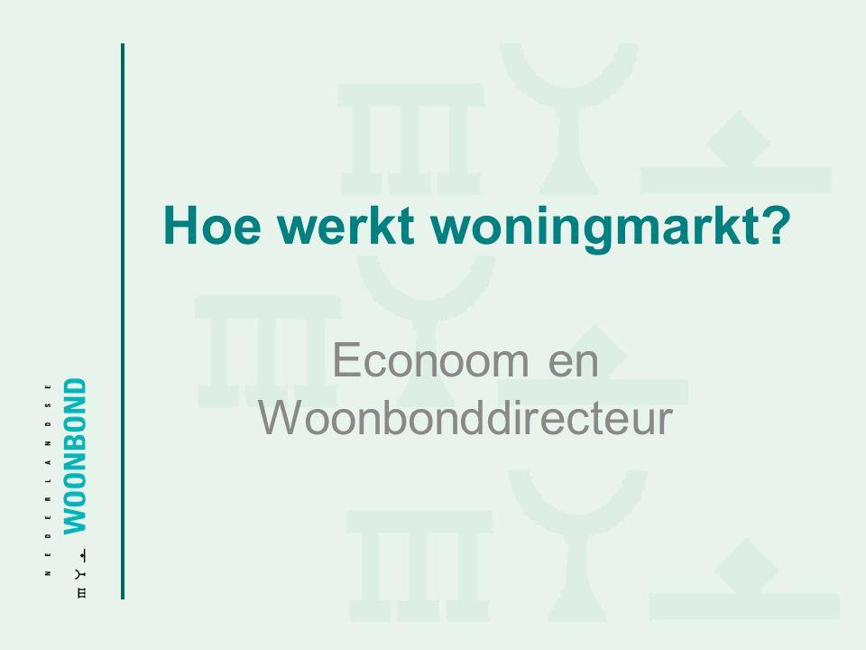 Hoe werkt woningmarkt? Econoom en Woonbonddirecteur